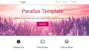 Material Design Template Download Free Material Design Parallax Template