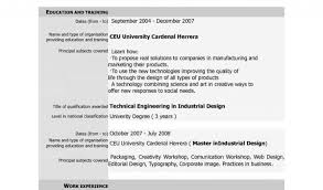 Template For Resume And Cover Letter With Free Download Cv Europass