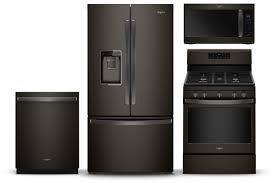 Bring the classic style of matte black appliances into your kitchen.