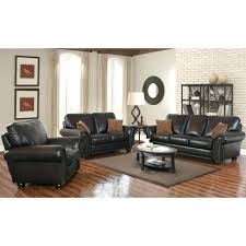 leather sofa loveseat set mac hand rubbed and brown melrose pushback recliner 3 piece
