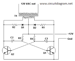 simple inverter v dc to v ac schematic design basic inverter