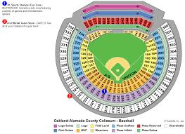 Oakland Raiders Seating Chart 2019 34 Complete Map Of The Oakland Coliseum