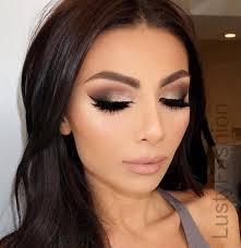 wedding makeup for brown eyes 2017