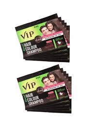 Ml Design And Printing Shop Vcare 10 Piece Hair Color Shampoo Black 10x40 Ml Online In Dubai Abu Dhabi And All Uae