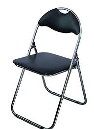 ahoc padded folding chair black with fortable seat retro office reception funky foldable desk chairs easy