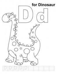 Small Picture Letter D Coloring Pages Preschool and Kindergarten
