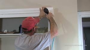How To Install Window  Door TrimCasing YouTube - Interior house trim molding