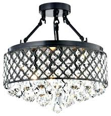 antique black drum shade crystal semi flush mount chandelier with inspirational semi flush mount drum shade