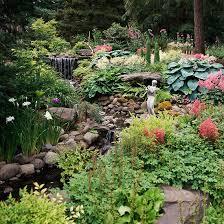 garden landscape design.  Garden Stream With Waterfalls And Garden Landscape Design A