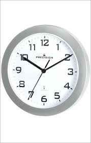 precision radio controlled wall clock silver prec0060 gadgetize radio controlled wall clock radio controlled wall clock