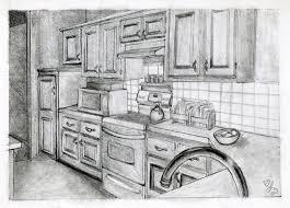 kitchen drawing perspective. Unique Kitchen Kitchen Drawing Perspective Perspective By Whitneydewel  Perspective R On Kitchen Drawing Perspective
