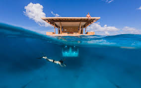 sleep with the fishes in underwater bedroom at floating hotel in zanzibar bored panda