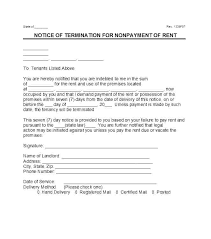 Rent Notice Letter Demand Letter Template Free Late Rent Notice Template Demand