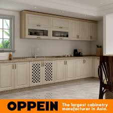 modular cabinet furniture. White And Wood Grain PVC Membrane Modular Kitchen Cabinet Furniture Cupboard (OP17-PVC03) T