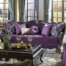 Purple tufted sofa - Tiffany this is for you.