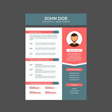 Resume Of A Graphic Designer Graphic Designer Resume A4 Size Download Free Vector Art Stock