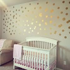 Metallic Gold Polka Dot Wall Decals | Polka dot walls, Metallic ...