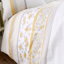garden yellow duvet cover set
