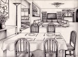 kitchen drawing perspective. Plain Kitchen One Point Perspective Living Room Drawing Inspiration 61833 Kitchen And