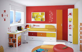 cool kids bedroom furniture. Kids Bedroom Sets With Attractive Colors Of White Red And Yellow Study Desk Cool Furniture O