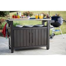 patio carts with wheels new keter unity xl 78 gal grill serving prep station cart with