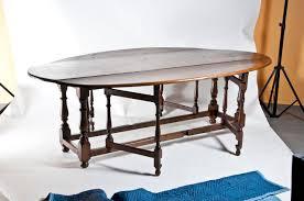 Drop Leaf Dining Table Large Vintage English Oval Drop Leaf Dining Table C 1980 For Sale