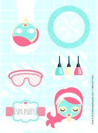 Spa Birthday Party Invitations Free Printable Templates Medium Size