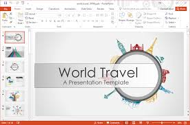 Animated World Landmarks Powerpoint Template