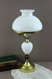hobnail milk glass lamp lamps shade replacement globe fenton for lam