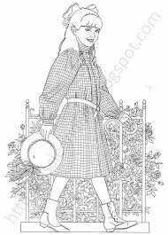 Small Picture Coloring American Girl Coloring Pages