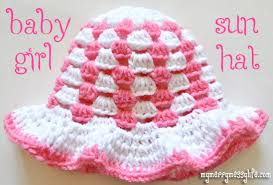 Free Crochet Patterns For Baby Hats Amazing Granny Stitch Sun Hat Baby Girl Free Crochet Pattern My Merry