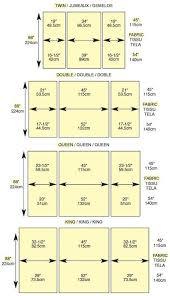 Quick-look chart to piece quilt backings without a center seam ... & Quick-look chart to piece quilt backings without a center seam   Quilting  Tips & Techniques   Pinterest   Chart, Craft and Tutorials Adamdwight.com