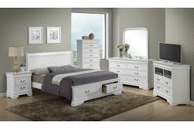 Dawson - White Queen Size Storage Bedroom Set
