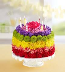 Birthday Wishes Flower Cake Rainbow Portland Oregon Florist