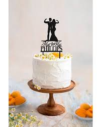 Great Deal On Muscular Wedding Cake Topper Fitness Couple Cake