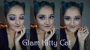 glam kitty cat makeup ear hair tutorial