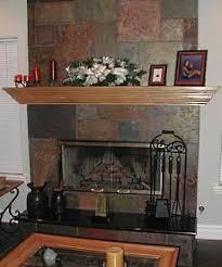 Fireplace Hearth Ideas Added Tan A Walk Through We Retiled The A Slate Fireplace