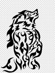 Tattoo Art Drawing Gray Wolf Tribal Transparent Background Png