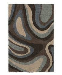 love this product brown blue swirl rug