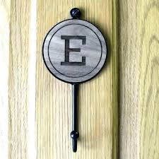 letter wall hooks these alphabet initial are the perfect personal silver large size of decorative metal