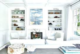 bookcases cottage style bookcase white shelves tags living room with picture lights on bookcases