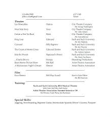 Acting Resume Templates Amazing Acting Resume Templates Dewdrops