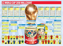 World Cup Fixture Chart Get Your World Cup 2018 Wallchart The National