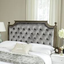 ... Large Size of Bedroom:beautiful Grey Velvet Tufted Headboard Decorative  Diamond Wingback By Samanthadanielle Images ...