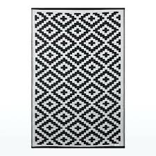 outdoor rug black and white pixel outdoor rug in black white geometric patterned picnic mat black
