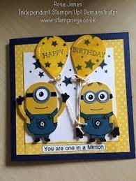 Stamp Ninja Minions Birthday Card Balloon Cards Pinterest