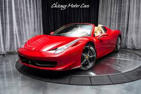 Get as close to behind the wheel as you can (from behind a computer screen) with our. Used 2014 Ferrari 458 Spider Convertible Only 9k Miles Serviced Loaded Perfect For Sale Special Pricing Chicago Motor Cars Stock 17076
