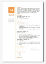 Contemporary Resume Templates Simple Gallery Of Modern Microsoft Word Resume Template Melanie Mokodompit