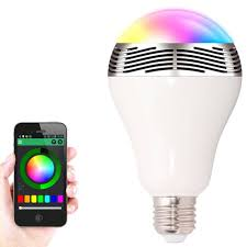 New Smart Light Bulb E27 LED RGB Light Wireless Music Bluetooth LED ...
