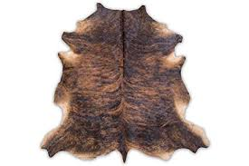 Small cow hide rugs Calf Cowhide Rug Dark Brindlesmall Simspot Amazoncom Cowhide Rug Dark Brindlesmall Kitchen Dining
